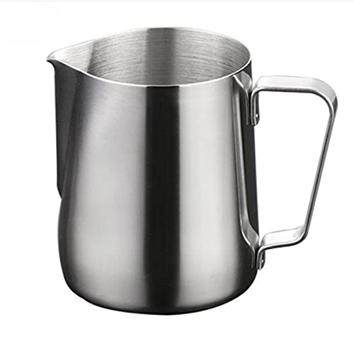 Ddcjc Stainless Steel Frothing Coffee Pitcher Pull Flower Cup Milk Pot Espresso Cups Latte Art Milk Frother Frothing Jug (Capacity : 600ml)