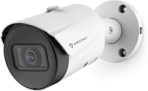 Telecamera POE da esterno Amcrest UltraHD 5MP 2592 x 1944p Telecamera di sicurezza IP Bullet, impermeabile IP67, angolo 103 °, obiettivo 2,8 mm, visione notturna 98,4 piedi, IP5M-B1186EW-28MM