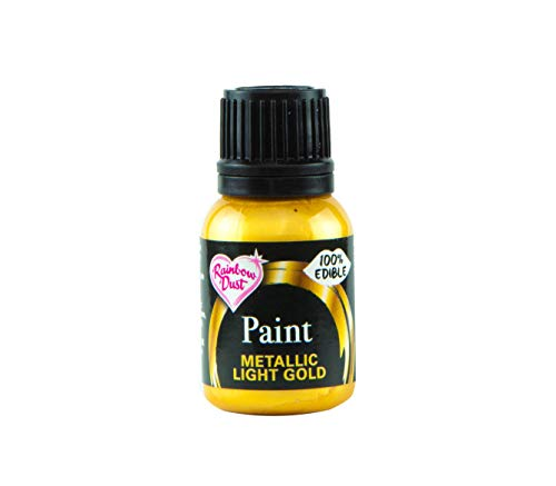 Rainbow Dust Metallic-Lebensmittelfarbe Gold Light, 1er Pack (1 x 25 g)