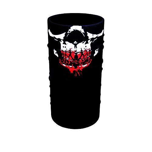 ZaPro Face Shields/Windschutz Atmungsaktiv Elastisch / +40 Designs/Biker Herren Damen/Angeln Motorrad Ski Fahrrad Paintball (Bloody Skull)