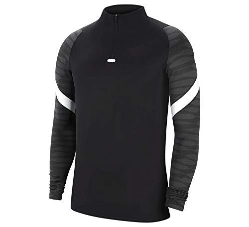 Nike Herren Dri-FIT Strike Longsleeve, Black/Anthracite/White/White, L