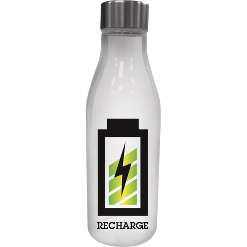 Cypress Home Recharge Glass Water Bottle with Metal Lid