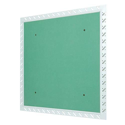MW multi werkzeug Revisionsklappe 400 x 400 mm mit Gipskarton-Einlage imprägniert für Massivwand mit Einputzrahmen 40 x 40 cm
