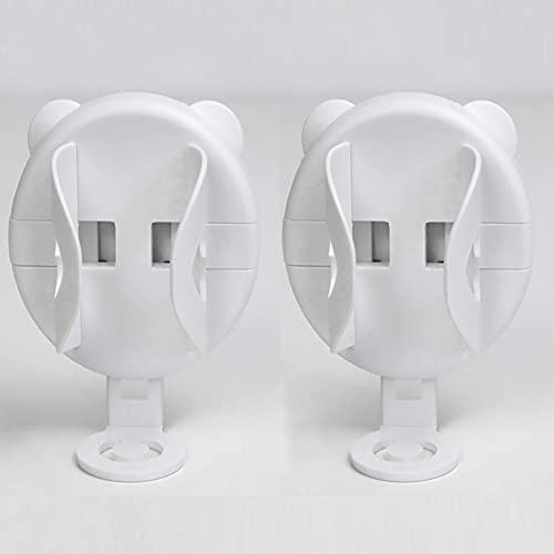 KNMY Soporte para Cepillo de Dientes eléctrico, 2PCS Portacepillos de Dientes Soporte Cepillo Dientes Pared Electrico Adhesivo Soporte para Cepillo Eléctrico Pegado en la Pared Organizador de Baño