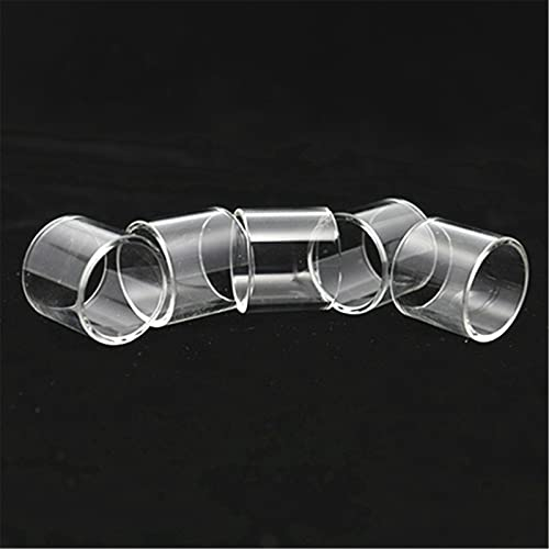 100 unids burbujas rectas mini vasos de vidrio apta para Zeus RTA / FIT para Zeus Dual X Malla X / Ajuste para Zeus subhm Tube de cristal ( Color : Straight , tamaño : Fit for ZEUS ( single)25mm )