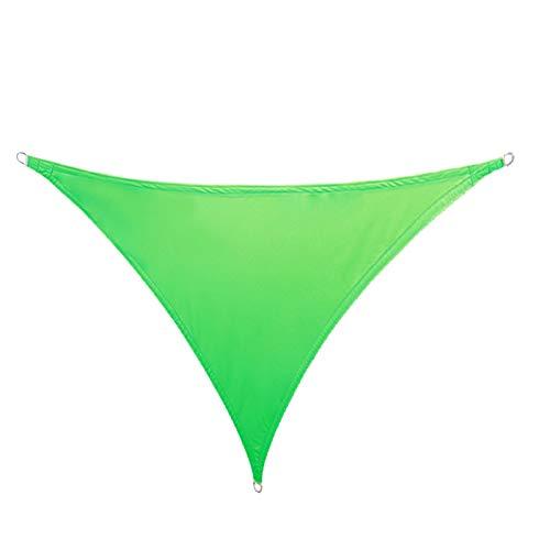 TRITTHOCKER Toldo Impermeable, Vela de Sombra del triángulo, toldo al Aire Libre Jardín Terraza Piscina Tabla de Sombra, 3 * 3 * 3 m,Verde