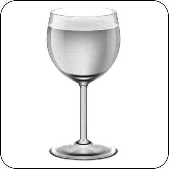 Hinweisschilder, Piktogramme - Weinglas -