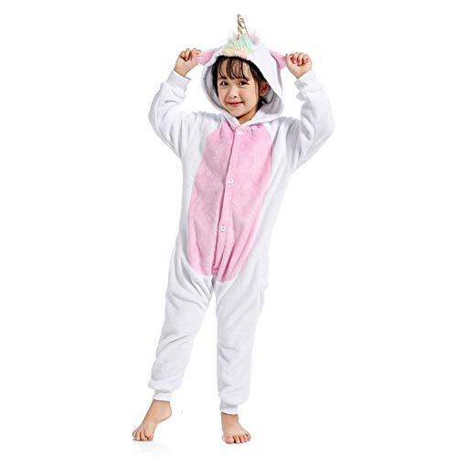 WhiFan Eenhoorn Adult pyjama Cosplay Dier kostuum Onesie nachtkleding Overall Animal Sleepwear Dier Carnaval Carnaval Halloween kostuum