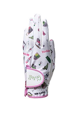 Glove It Luva de golfe feminina Nine and Wine (média, mão esquerda)