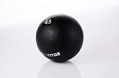Vitos Fitness Exercise Slam Medicine Ball 10 to 70 Pounds   Durable Weighted Gym Accessory Strength Conditioning Cross Training Core Squats Lunges Spike Ball Rubber Weight Workout (45)