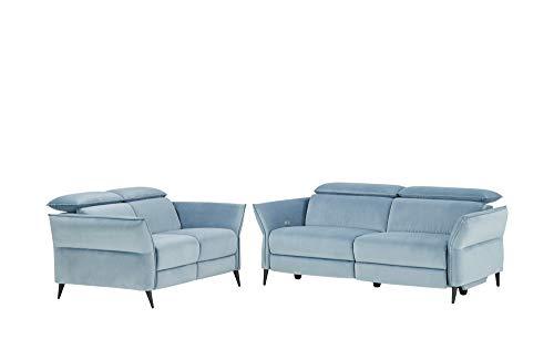 Trustycomfort Divine 3+2 Sky Blue Fabric 5 Seater Sofa Set