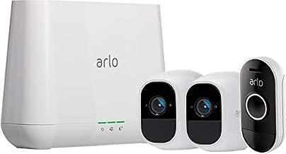 Arlo Pro 2 Indoor/Outdoor 1080p Security Camera (2-pk) w/Audio Doorbell