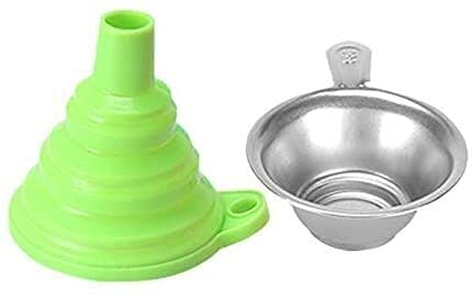 Good Stability Printer Accessories 3D Printer Accessories Resin Filter Cup Silicone Funnel Consumables Filter Funnels Metal Strainer for S-LA Green (Color : Green) Replace Damaged (Color : Green)