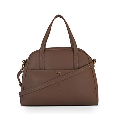 Baggit Spring-Summer 2021 Faux Leather Women's Bowling Handbag (Pink) (Cuflink)