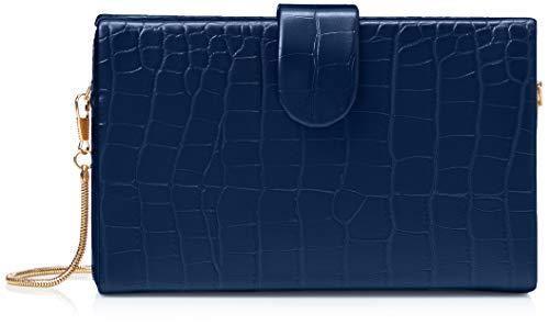 SwankySwans Hailey, Bolsa de Embrague para Mujer, Azul Marino, Medium