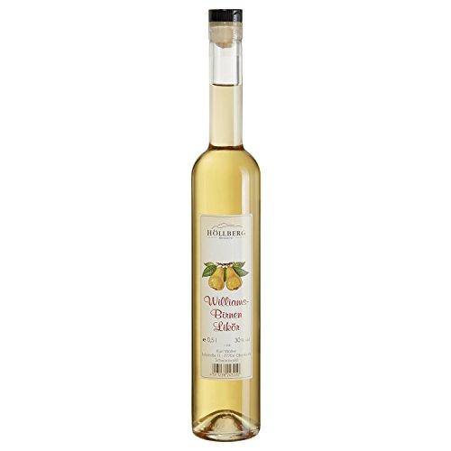 Williams-Birnen Likör Höllberg 30% vol, (1 x 0.5 Liter) edler Fruchtlikör ohne Aromastoffe