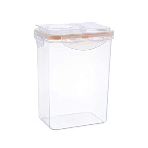 UNU_YAN Modern Simplicity Food Containers Cereal Containers Transparent Plastic Kitchen Refrigerator Food Grain Storage Container Sealed Storage Box Nut Convenient Storage Box Food Storage