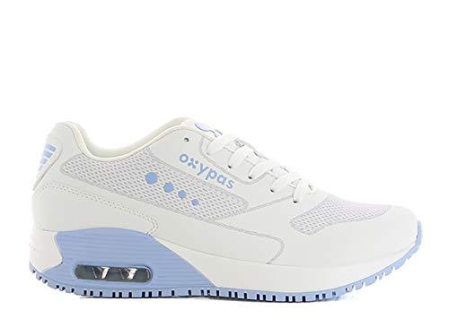 Oxypas Ela SCR, Sportschuhe, Arbeitsschuhe, Sneaker (ElaS4101lbl),White with Light Blue,41 EU