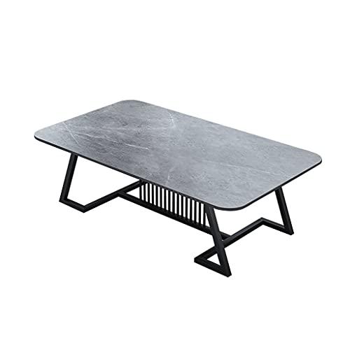 Mesas de café Mesa de centro moderna Mesa de té industrial mesa de té, usado en el dormitorio y la sala de estar té rectangular mesa de test de tv estantería mesa Mesa de Centro ( Color : Gray )
