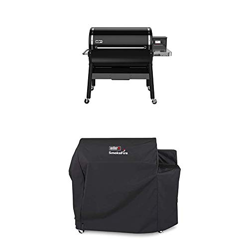Weber 23510001 SmokeFire EX6 Wood Fired Pellet Grill, Black