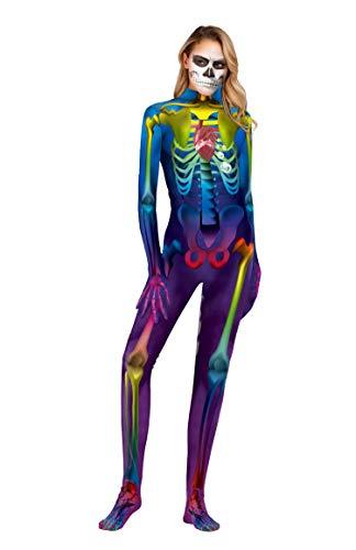 URVIP Unisex Halloween Unheimlich Gespenstisch Bodycon Party Cosplay Kostüm Overalls WB141-004 S