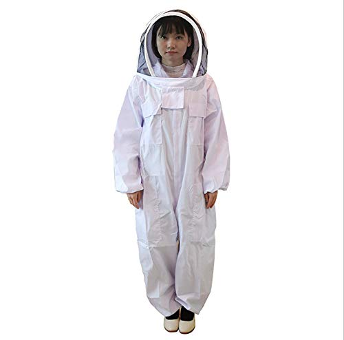 Yosan pak voor apiculatie, bijenkleding, beschermende kleding met vliegenhoed voor heren, dames, wit, L