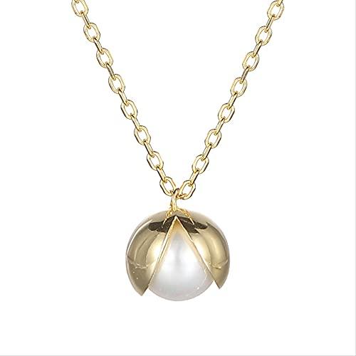 S925 plata esterlina pequeña perla fresca collar cadena Sen Departamento diseño creativo collar mujeres Boutique accesorios, 925 silver,