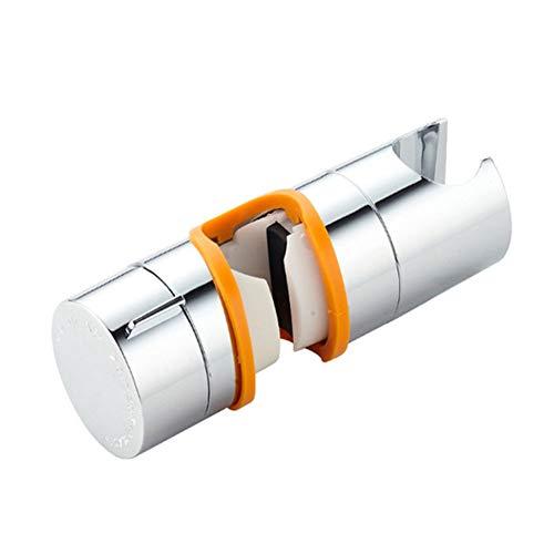 YYLC Shower Head Fixed Seat, 18~25mm Universal Shower Head Holder Replacement, Adjustable 360° Rotatable Hand Shower Rail Head Bracket Clamp for Round Sliders Slide Bar Orange