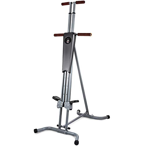 Hihone Vertical Climber Adjustable Exercise Climber Trainer, 400Lbs Capacity Steel Frame Cardio Climber Full Body Stair Climber,Home Gym Exercise Folding Climbing Machine for Men and Women