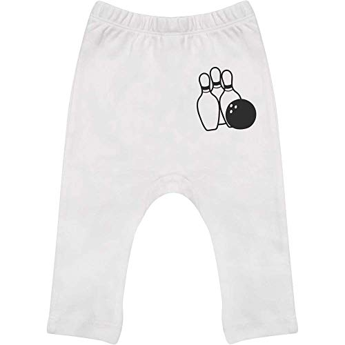 Azeeda 6-12 Monate 'Bowlingkugel und Stifte' Baby Leggings / Hosen / Jogger (BE00016042)