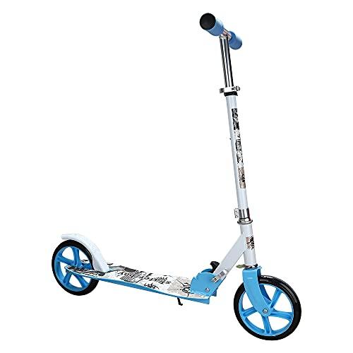EINFEBEN Kinder Scooter klappbar Höhenverstellbar mit 205mm Big Wheels Mädchen und Junge Freizeit City Roller klappbar Für Kinder ab 5 Jahren (Blau)