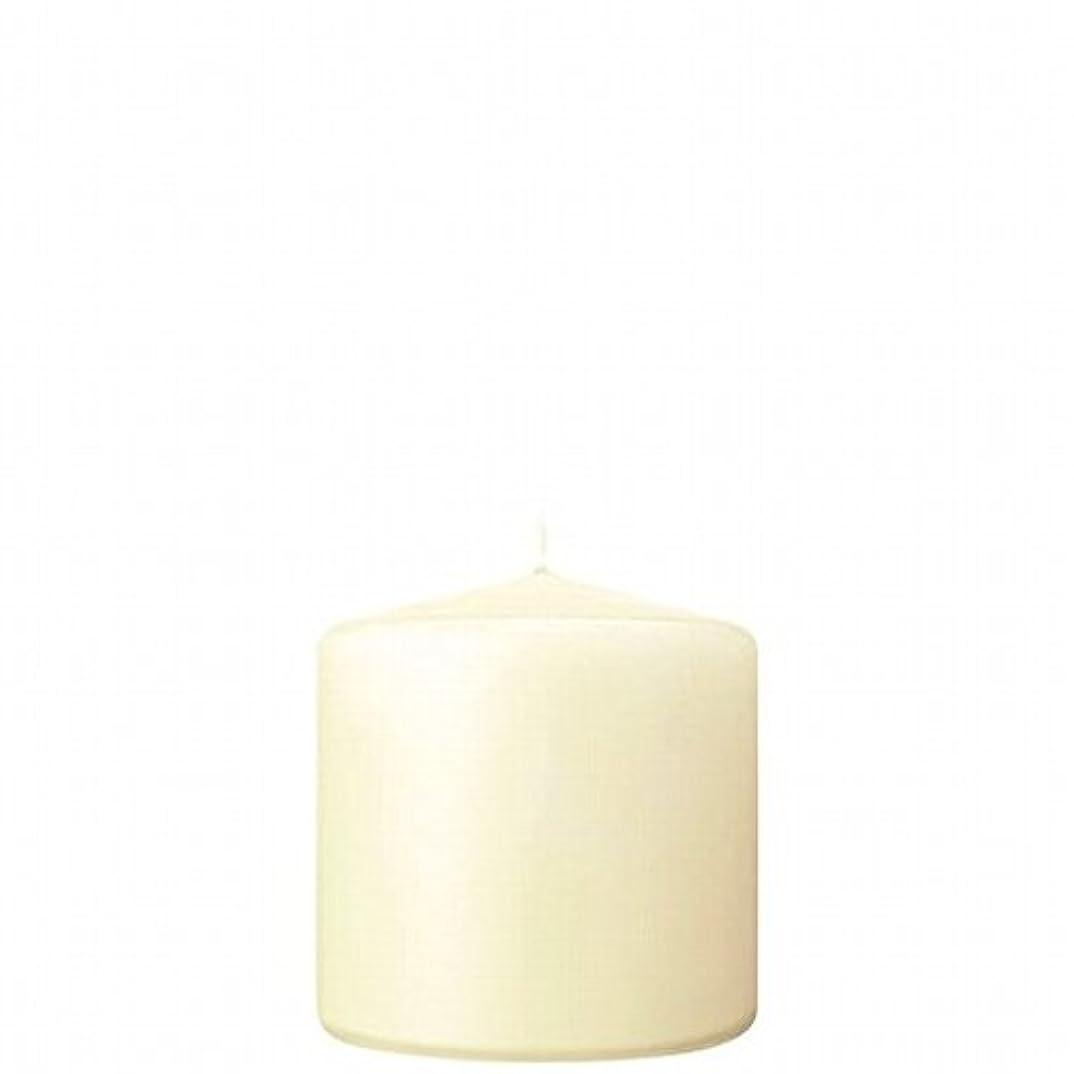 孤独な隠す接続kameyama candle(カメヤマキャンドル) 3×3ベルトップピラーキャンドル 「 アイボリー 」(A9730000IV)