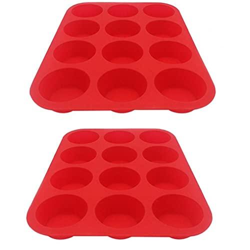 Gadgets herramienta de molde de silicona Muffin bandejas de horno antiadherente Magdalena Moldes molletes de la hornada por Cocina
