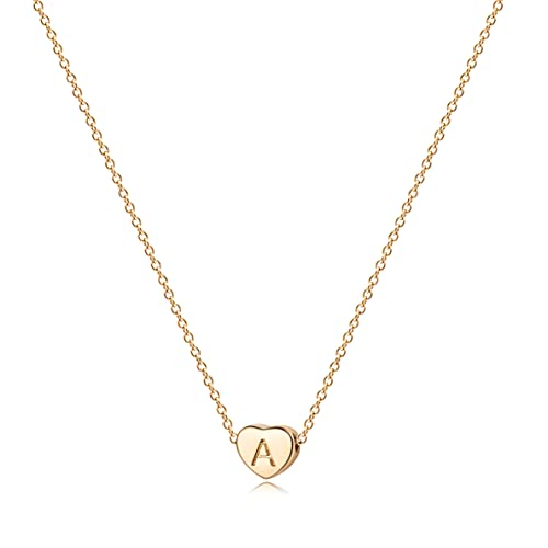 Tiny Gold Initial Heart...