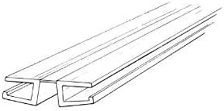 Clear PVC Living Hinge with Bottom Groove, Fits 3/16