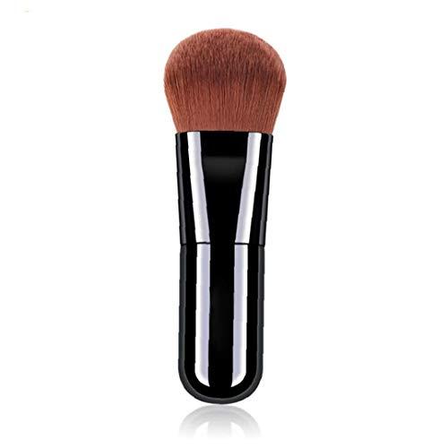 1pc couverture complète Fondation Maquillage Pinceau plat Pinceau Kabuki liquide crème poudre cosmétiques pinceau applicateur Blending (Noir)