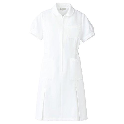 【Lumiere】ルミエール ナース 看護師用 女性用 白衣 パフスリーブ ワンピース (861337) ホワイト 4L