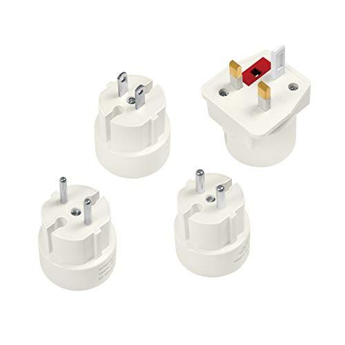 LogiLink PA0186 4 adapters voor meer dan 100 landen geschikt voor Zuid-Europa, Commonwealth landen, Engelse en Amerikaanse stekker