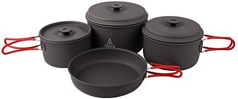 Alocs Camping Cookware Pots and Pans Set Backpacking Mess kit for Hiking Picnic Outdoor Lightweight product image