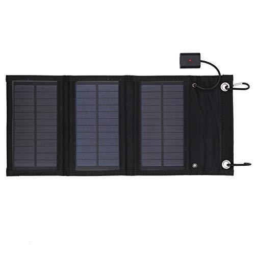 OUKENS El Panel Solar Plegable, el Panel Solar de empaquetado Plegable Impermeable portátil 15W se Utiliza para la Carga del Viaje