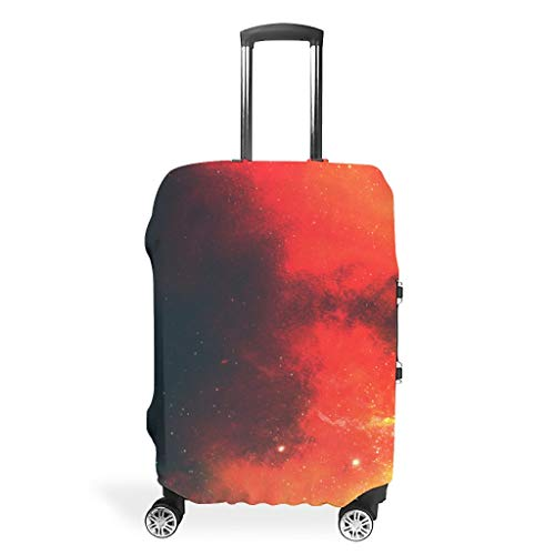Travel Luggage Cover – Universe Personalised Suitcase Protector 4 Sizes for Most Luggage, White (White) - BTJC88-scc