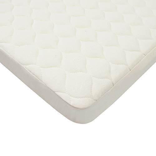 American Baby Company Organic Cotton Quilted Waterproof Fitted Bassinet Pad Cover by American Baby Company