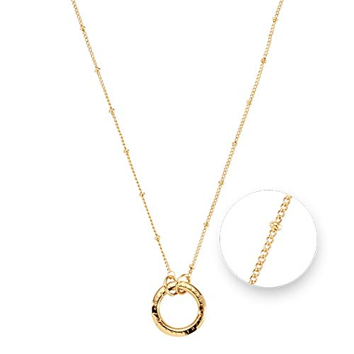 Nikki Lissoni Gold Plated Ball and O-Ring Necklace 37cm