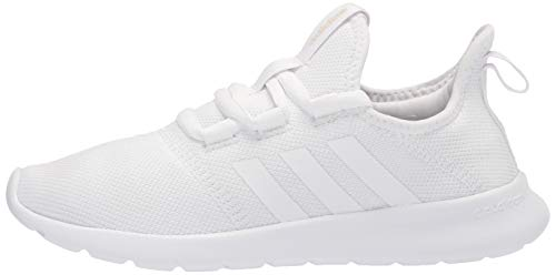 adidas Women's Cloudfoam Pure 2.0 Running Shoes, White/White/Grey, 5