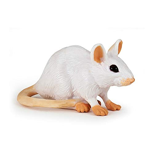 Papo 50222 Weisse Maus WILDTIERE DER Welt Figur, Mehrfarben