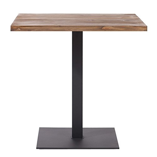 Indhouse Plat – Table de Restaurant de Style loft avec Style Vintage Industriel en métal et Bois Thin Rochester