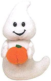 TY Halloweenie Beanie Baby - SPOOKY the Ghost with Pumpkin