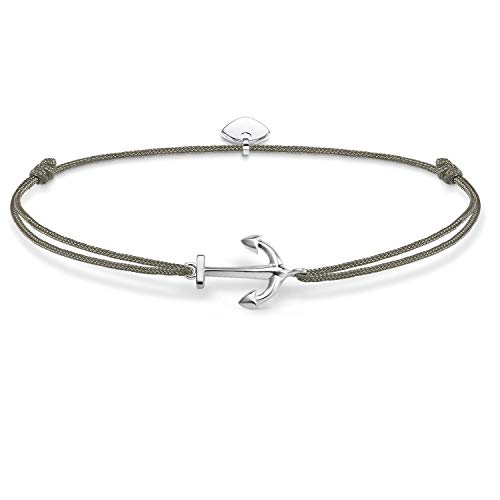 Thomas Sabo Women-Bracelet Little Secrets 925 Sterling silver grey LS001-173-5-L20v