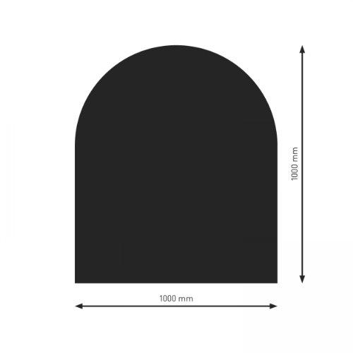raik PU053-1B3-sw Bodenplatte B3 Halbrund schwarz pulverbeschichtet 1000 x 1000 mm