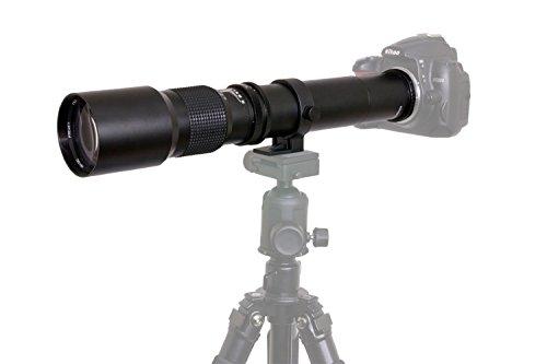 High-Power 500mm/1000mm f/8 Manual Telephoto Lens for Canon EOS 80D, EOS 90D, Rebel T3, T3i, T5, T5i, T6i, T6s, T7, T7I, T8I, SL3, EOS 60D, EOS 70D, EOS 5D, EOS5D IV, EOS 6D II, EOS 7D II SLR Cameras